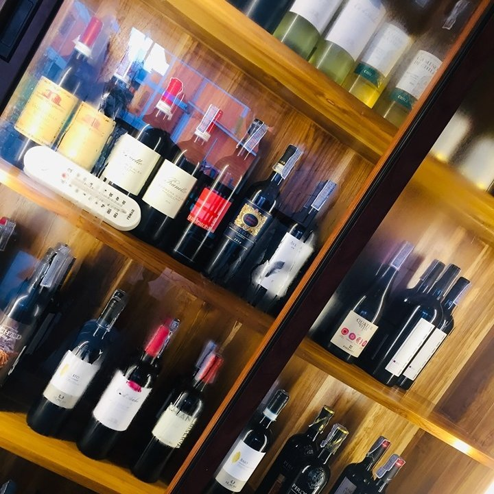 Large selection of imported wines